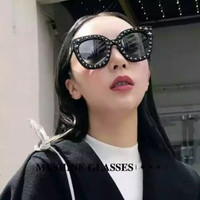 asli murah kacamata sunglasses wanita gucci star diamond kc 226 black