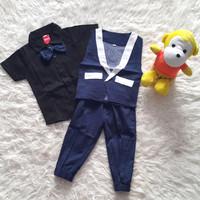 Baju Pesta Anak Bayi Laki Tuxedo Rompi Panah Dasi Kupu Jogger ready