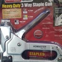 Harga staples tembak homaster steples tembak staple gun bonus isi   Pembandingharga.com