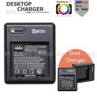 Satoo Desktop Dual Charger Battery for Xiaomi Yi,Garansi,Premium