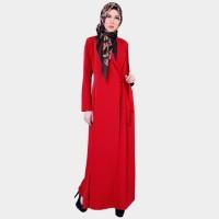 New Arrival   Gamis Muslimah Dress Motif Polos - Zulma Dress Zoya