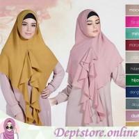 Hijab | jilbab | khimar syari Sheeva antem variasi rumbai
