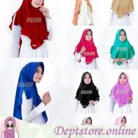 Hijab | jilbab | khimar syari Dealova Diamond model pinguin antem