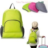 Tas Ransel Lipat Travel Backpack-Hijau
