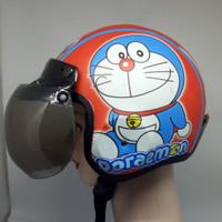 Helm Bogo Anak Karakter Doraemon Merah