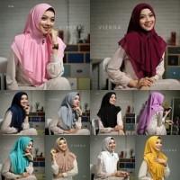 Fashion muslim wanita Jilbab Besar Model Khimar Instan Layer Virna Rem