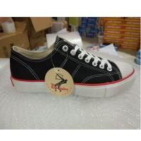 Sepatu Warrior Classic Low / Sepatu Warrior Pendek Black [37-43]