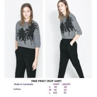 TREE PRINT CROP SHIRT. Made in Combodia - FACTORY OUTLET BRANDED