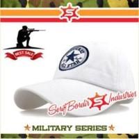 Topi Baseball Import Converse Putih Bordir Sport