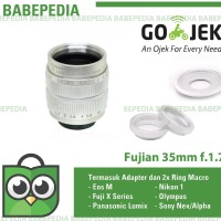 Lensa manual Fujian 35mm f1.7 Silver sony Nex,eosm,nikon,m43,fuji