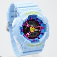Jam Tangan D-Ziner 8066 Blue Jam Wanita Original Dualtime Sporty Murah