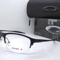 kacamata oakley Frame Half wire sport hitam