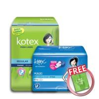 [FREE POUCH] Kotex Liner Reg Aloe Vera (40 pcs) & SS Maxi Wing (8 pcs)