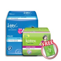 [FREE POUCH] Kotex L&W Unscented (16 pcs) & SS Maxi Plus (20 pcs)