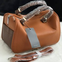 ZBM456 BROWN | Tas Zara Terbaru Travel Top Handle 2018 Original