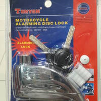 Gembok cakram motor dengan alarm/tonyon disk lock with alarm