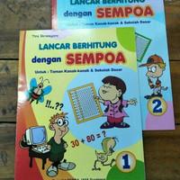 Buku TK dan Paud Lancar Berhitung dengan Sempoa 1&2