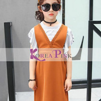 baju anak import. branded. murah. korea pink. dress anak
