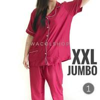 Piyama cp satin velvet baju tidur Jumbo XXL