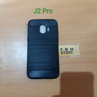 Case ipaky carbon fiber Samsung J2 Pro / Softcase Carbon J2pro 2018