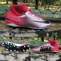 Sepatu Bola Nike Mercurial X Superfly Silver-Pink list Hitam Grade Ori