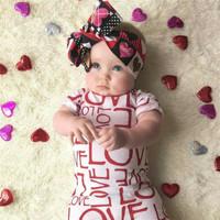 Perlengkapan Bayi Baju Bayi Perempuan Jumper Dress Bayi Gaun Bayi Love