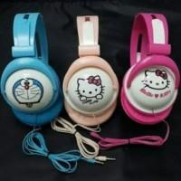 88632b515 Headset Earphone Bando Karakter Unik Lucu DORAEMON /HELLOKITTY