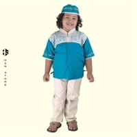 Baju Koko Anak Seri 3 Umur 4 - 8 Tahun CSG 250-535 Toska