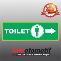Sticker Safety Sign K3 Tanda Arah Toilet Pria