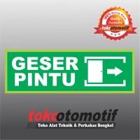 Sticker Safety Sign K3 Tanda Arah Geser Pintu