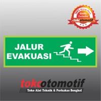 Sticker Safety Sign K3 Tanda Arah Jalur Evakuasi