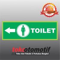 Sticker Safety Sign K3 Tanda Arah Toilet Wanita