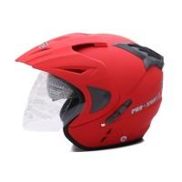 HELM [Helm Dewasa] WTO Helmet Pro-Sight - Double Visor - Merah Doff