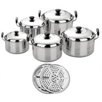 Panci America High Pot 5 in 1 + 2 steamer
