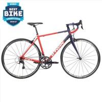 Sepeda Balap Pro Road Bike Race Racing Triban 540 RedBlue Carbon Alloy