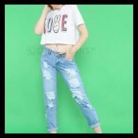 Celana Jeans Jumbo Boyfriend Ripped Tidak Tembus Jc