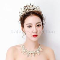 Mahkota rambut tiara wedding crown hiasan kepala hijab pengantin