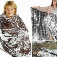 Selimut Aluminium Foil, Emergency Blanket Survival Rescue Tenda Tent