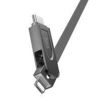 Hoco U24 Kabel Fast Charging 3 in 1 Lightning   USB Type C   Micro USB