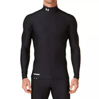 NEW !! Baselayer / Manset Heat Gear UnderArmour Black