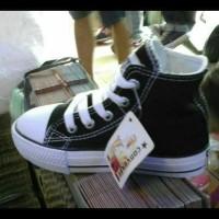 Paling Laris ! Sepatu Sekolah Converse Allstar Hitam Putih Anak Kids