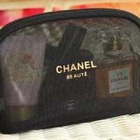 pouch kosmetik , dompet kosmetik chanel original