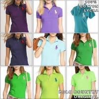 BAJU WANITA MURAH Kualitas Bagus Kaos Polo Shirt Wanita Bahan Adem