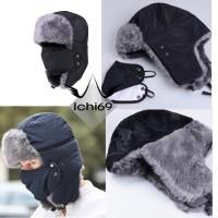 PROMO Topi Rusia Ushanka Winter Hat Import + Masker BARU