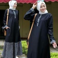 Baju Wanita Muslim Trend Inara Dress - Gamis Katun Busui Kancing Depan