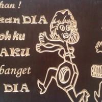 Grafir Kayu multiplek melamin - Kata-kata Lucu 1 (ditempel di dinding)
