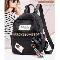 Tas Ransel Impor Sekolah Fashion Wanita Backpack Kuliah Elegan