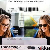Lensa Nikkei FSV Transmagic Grey 1.56 UV420 HMC - Anti Blue Light 3in1