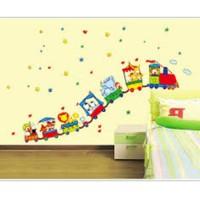AY9065 TRAIN CLOWN wallsticker wall stiker hiasan dinding