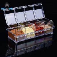 Rak Tempat Bumbu Seasoning Box Serbaguna 4 in 1 - Kristal